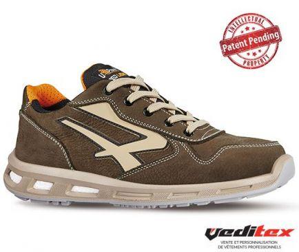 code promo f6c9f 70a41 Chaussure de sécurité basse style basket en cuir avec amorti ...