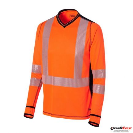 Haut Polo /À Manches Longues Plein T-Shirt Col Hi Viz V/êtements De Travail R/éfl/échissants Safety MA ONLINE Hommes