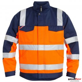 Veste orange/marine