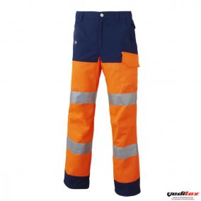 PANTALON ORANGE/MARINE