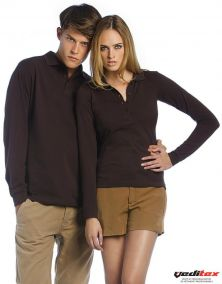 "Polo manches longues femme,180 g/m2 ""SAFRAN 520.42"""