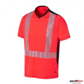 Tee shirt manches courtes haute visibilité maille 100% polyester - 0471
