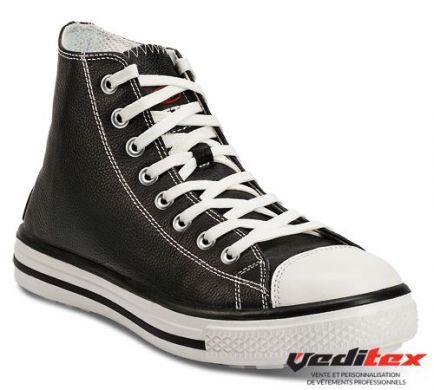Chaussure de s curit haute en cuir type converse s3 src - Chaussure de securite homme legere ...
