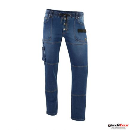 "Pantalon de travail stretch en molleton type JEANS  PULS  "" 0307"""