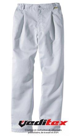 Pantalon De Cuisine Polyester Coton Gris Perle Altis 2009