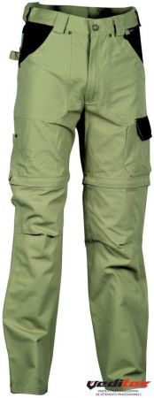 "Pantalon de travail 100% coton transformable en short  ""HELSINKI "" V053"