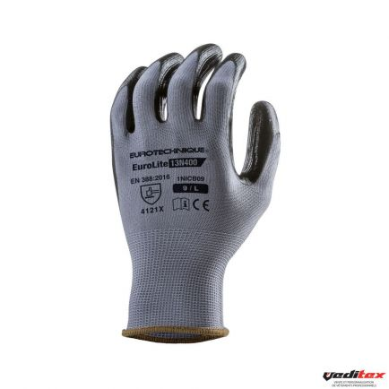 "Gants de protection polyester, enduction nitrile  "" 1NICB"""