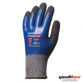Gant anti-coupure enduction nitrile niveau 5- 1CRFN