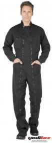 Combinaison de travail double zip polyester/coton '' QUICK '' 020QK30AS