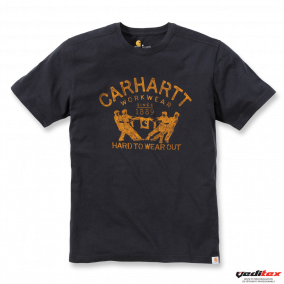 "Tee-shirt  Carhartt logo ""HARD TO WEAR OUT"" poitrine  "" 102097"""