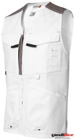 Gilet de travail  Coton/ Polyester White and pro - 2837