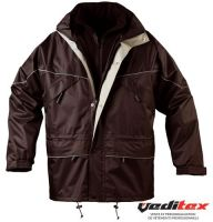 "Parka ISA Noire 3/1 polyester enduction PVC ""5ISAB"""