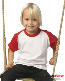 "Tee shirt enfant type base ball, 185 g/m2  ""118.42"""