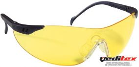 "Lunettes ""STYLUX""  Branches bleu marine - Oculaire jaune 60516"